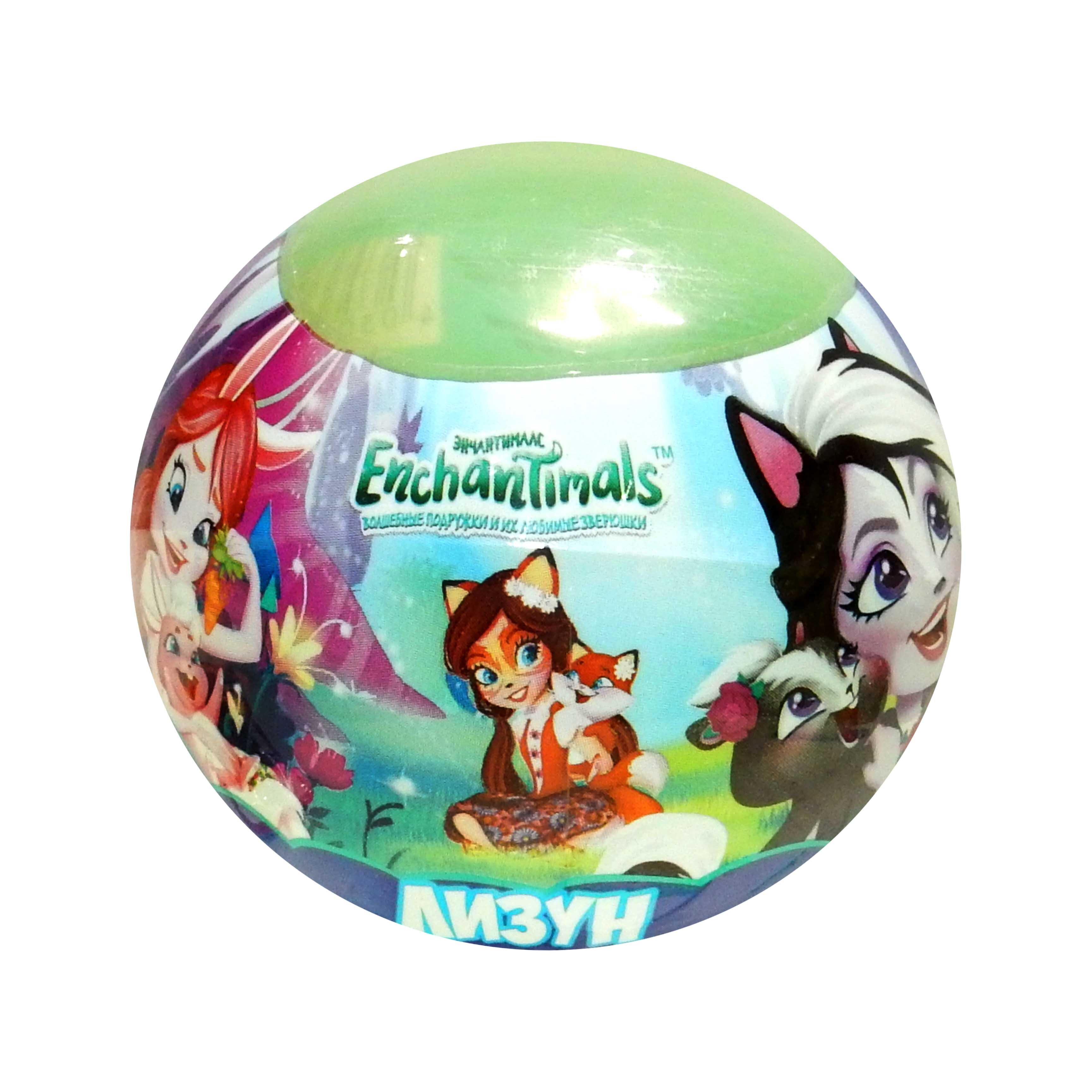 "Лизун шар ""Enchantimals"" 75 грамм 90300  МИКС   4361518"